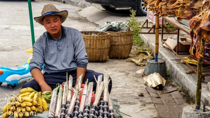 sprzedawca trzciny cukrowej