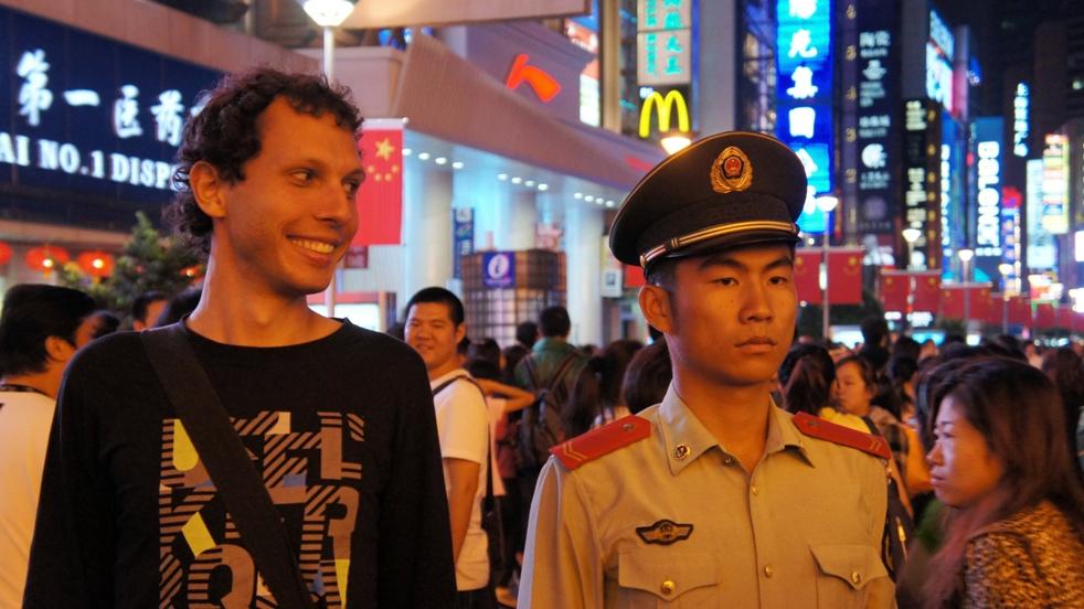 chiński żołnierz i polski inżynier