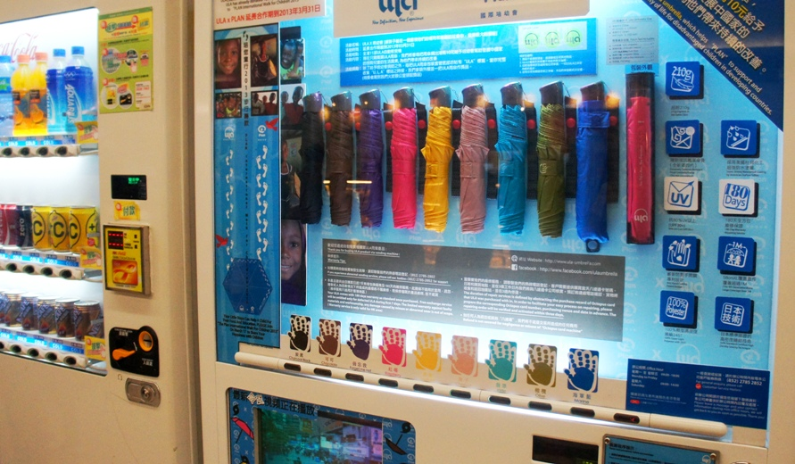 automat na parasole