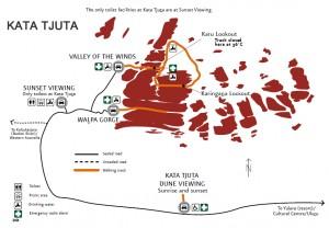 Mapa Kata Tjuta