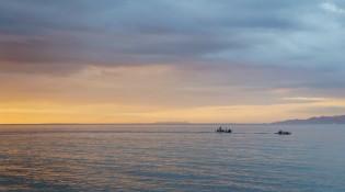 zachód słońca na Filipinach