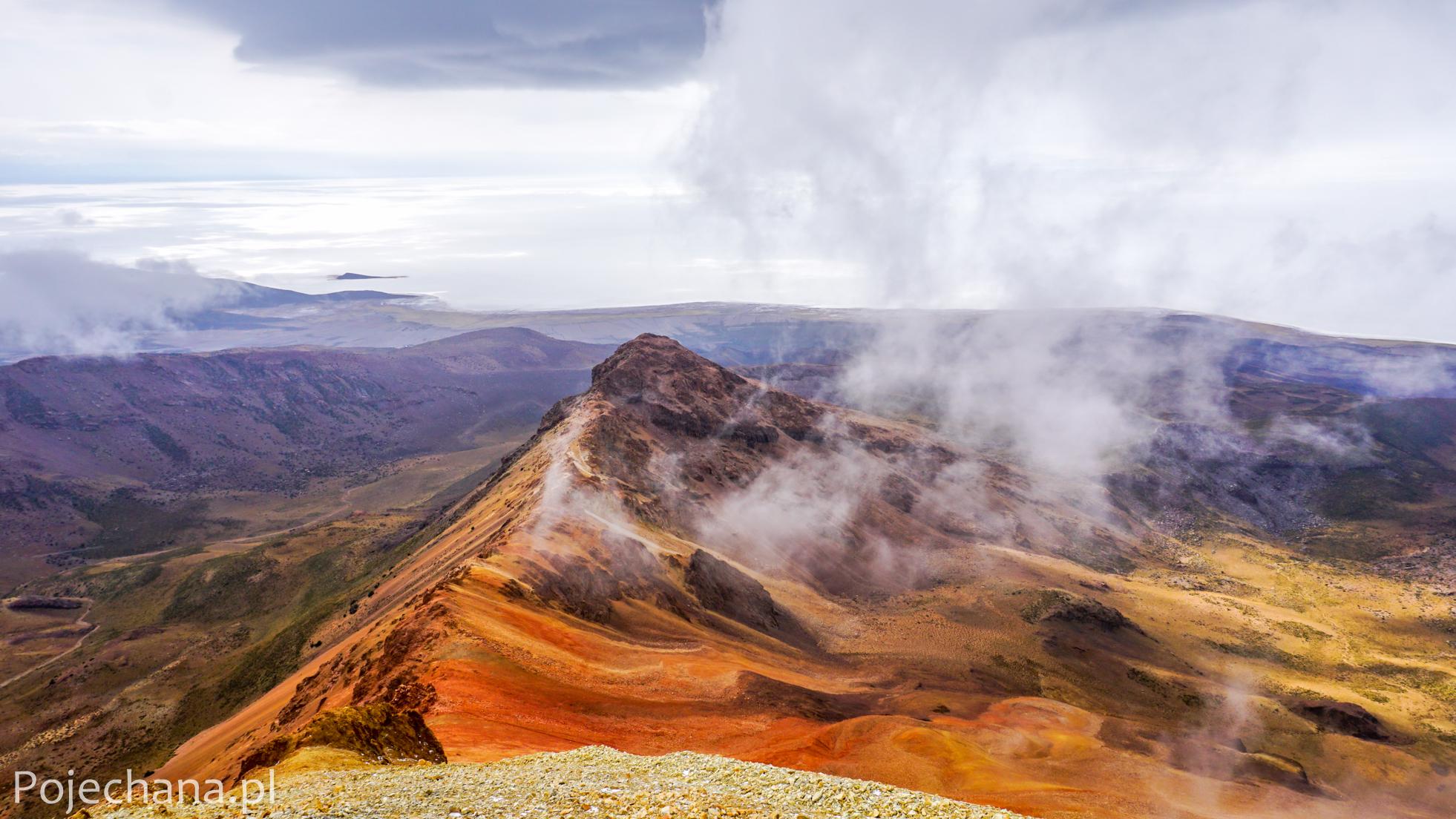 widok z wulkanu Tunupa